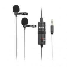 Boya BY-M1DM Dual Omni Directional Lavalier Microphone