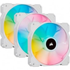 CORSAIR ICUE SP120 RGB ELITE 120MM white PWM FAN TRIPLE PACK