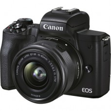 Canon EOS M50 Mark II 24.1MP With 15-45MM IS STM Lens 4K WI-FI Mirrorless Camera