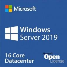 Microsoft Windows Server 2019 Data Center License, 16 cores, Open License