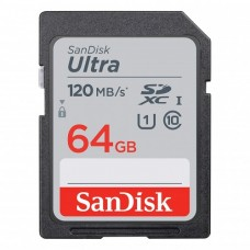 Sandisk Ultra 64GB SDXC Class-10 120Mbps Memory Card